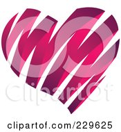 Royalty Free RF Clipart Illustration Of A Shiny Pink Ribbon Heart