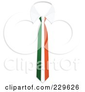 Royalty Free RF Clipart Illustration Of An Ireland Flag Business Tie And White Collar by Qiun