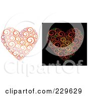 Royalty Free RF Clipart Illustration Of A Digital Collage Of Sketched Swirl Hearts