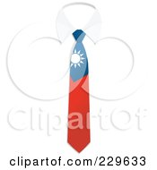 Royalty Free RF Clipart Illustration Of A China Flag Business Tie And White Collar by Qiun