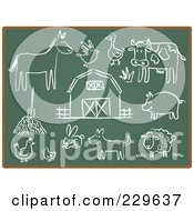 Digital Collage Of Chalkboard Sketch Icons 3