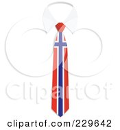 Royalty Free RF Clipart Illustration Of A Norway Flag Business Tie And White Collar by Qiun