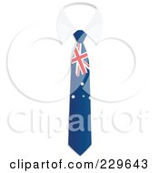 Royalty Free RF Clipart Illustration Of An Australian Flag Business Tie And White Collar by Qiun