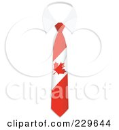 Royalty Free RF Clipart Illustration Of A Canadian Flag Business Tie And White Collar by Qiun