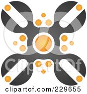 Royalty Free RF Clipart Illustration Of An Abstract Black And Orange Logo Icon 7