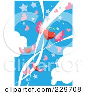 Blue Winged Heart Background
