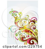 Royalty Free RF Clipart Illustration Of A Flourish Background On Off White 8