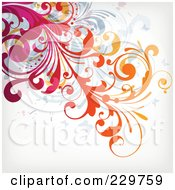 Royalty Free RF Clipart Illustration Of A Flourish Background On Off White 4