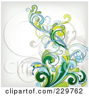 Royalty Free RF Clipart Illustration Of A Flourish Background On Off White 1