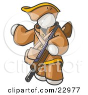 Clipart Illustration Of A White Man In Hunting Gear Carrying A Rifle