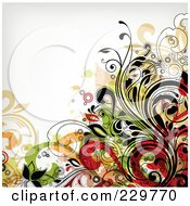Royalty Free RF Clipart Illustration Of A Flourish Background On Off White 10