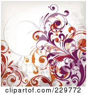 Royalty Free RF Clipart Illustration Of A Flourish Background On Off White 7