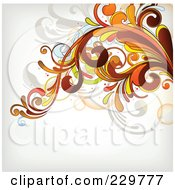 Royalty Free RF Clipart Illustration Of A Flourish Background On Off White 9