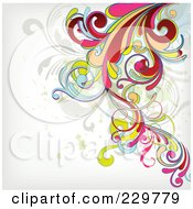 Royalty Free RF Clipart Illustration Of A Flourish Background On Off White 2