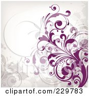 Royalty Free RF Clipart Illustration Of A Flourish Background On Off White 6 by OnFocusMedia #COLLC229783-0049