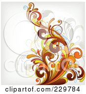 Royalty Free RF Clipart Illustration Of A Flourish Background On Off White 3