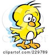 Royalty Free RF Clipart Illustration Of A Goofy Yellow Bird by Johnny Sajem