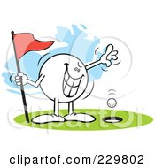 Royalty Free RF Clipart Illustration Of A Wicked Moodie Character Golfing A Hole In One