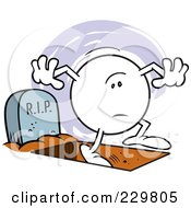 Royalty Free RF Clipart Illustration Of A Moodie Character With One Foot In The Grave