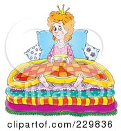 Royalty Free RF Clipart Illustration Of A Sad Girl Wearing A Princess Crown And Crying In Her Bed 1