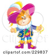 Royalty Free RF Clipart Illustration Of Puss In Boots With A Sword 2