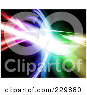 Royalty-Free (RF) Clipart Illustration of a Fractal Background Design - 2 by Arena Creative