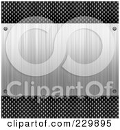 Royalty Free RF Clipart Illustration Of A Brushed Metal Plaque Over Carbon Fiber