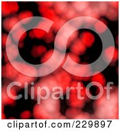 Royalty Free RF Clipart Illustration Of A Seamless Background Of Red Cells On Black by Arena Creative