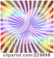 Royalty Free RF Clipart Illustration Of A Vibrant Swirling Burst Background