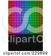 Royalty Free RF Clipart Illustration Of A Background Of Vertical Colorful Pixels And Black Space by Arena Creative