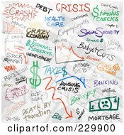 Royalty Free RF Clipart Illustration Of A Backround Of Economy Doodles