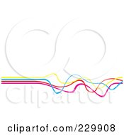 Royalty Free RF Clipart Illustration Of A Background Of Colorful Waves Over White Space by Arena Creative