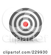Royalty Free RF Clipart Illustration Of A 3d White Gray And Red Target 1