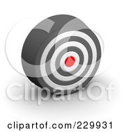 Royalty Free RF Clipart Illustration Of A 3d White Gray And Red Target 2