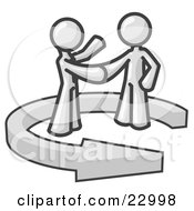 Poster, Art Print Of White Salesman Shaking Hands With A Client While Making A Deal