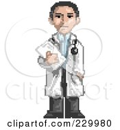 Pixelated Male Doctor