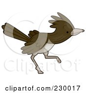 Royalty Free RF Clipart Illustration Of A Cute Roadrunner Running by BNP Design Studio