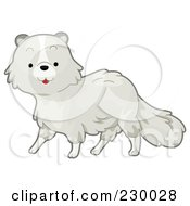 Royalty Free RF Clipart Illustration Of A Cute Arctic Fox by BNP Design Studio