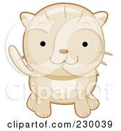 Royalty Free RF Clipart Illustration Of A Cute Beige Kitten