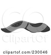 Royalty Free RF Clipart Illustration Of A Cute Black Eel