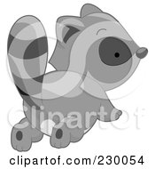 Royalty Free RF Clipart Illustration Of A Cute Baby Raccoon Showing His Butt