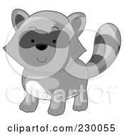 Royalty Free RF Clipart Illustration Of A Cute Baby Raccoon by BNP Design Studio