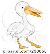 Royalty Free RF Clipart Illustration Of A Cute Pelican