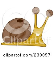 Royalty Free RF Clipart Illustration Of A Jolly Snail by BNP Design Studio