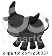 Royalty Free RF Clipart Illustration Of A Baby Water Buffalo by BNP Design Studio