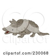 Royalty Free RF Clipart Illustration Of A Cute Armadillo