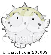 Royalty Free RF Clipart Illustration Of A Cute Puffer Fish