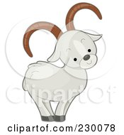 Royalty Free RF Clipart Illustration Of A Cute Dall Sheep by BNP Design Studio