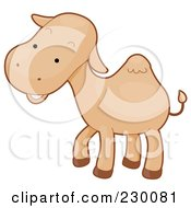Royalty Free RF Clipart Illustration Of A Happy Baby Camel by BNP Design Studio