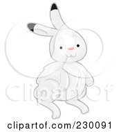 Royalty Free RF Clipart Illustration Of A Cute Arctic Rabbit